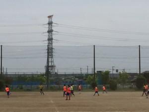 中学サッカー部 初の練習試合