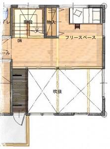 ⑤吉田家 2階 平面図(現状)